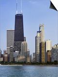 Chicago Skyline and John Hancock Building, Chicago, Illinois Prints by Adam Jones