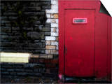 Derelict Red Door Posters by Clive Nolan