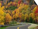 Blue Ridge Parkway Road Winding Through the Southern Appalachian Mountains Prints by Adam Jones