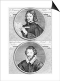 Thomas Tallis and William Byrd by G. Vander Gucht, 18th Century Prints by Niccolo Francesco Haym
