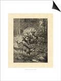 Vintage Roe Deer I Print by Specht Friedrich