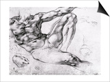 Study for the Creation of Adam Posters by  Michelangelo Buonarroti