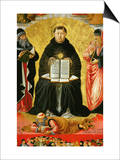 Saint Thomas Aquinas Standing Between Aristotle and Plato and over the Arab Philiosopher Averroes Prints by Benozzo Gozzoli