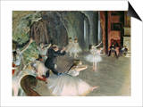 The Rehearsal of the Ballet on Stage, circa 1878-79 Posters by Edgar Degas