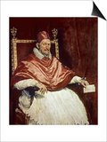 Portrait of Pope Innocent X (1574-1655), 1650 Print van Diego Velázquez