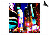 Times Square Night, New York Poster by  Tosh