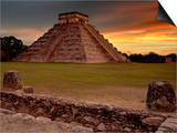 The Kukulcan Pyramid or El Castillo at Chichen Itza, Yucatan, Mexico Prints by Patrick Smith