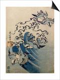 Waves and Birds, circa 1825 Kunstdrucke von Katsushika Hokusai