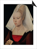 Portrait of a Lady, circa 1450-60 Prints by Rogier van der Weyden