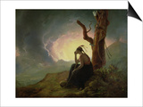 Widow of an Indian Chief, 1785 Prints by Joseph Wright of Derby