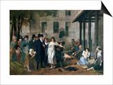 Philippe Pinel Releasing Lunatics from Their Chains at the Salpetriere Asylum in Paris in 1795 Kunstdruck von Tony Robert-fleury