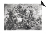 The Battle of Anghiari after Leonardo Da Vinci (1452-1519) Posters by Peter Paul Rubens