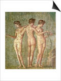 Three Graces, from Pompeii Posters