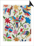 Otomi Embroidery II Print by Chariklia Zarris