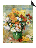Bouquet of Chrysanthemums, circa 1884 Posters by Pierre-Auguste Renoir