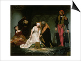 The Execution of Lady Jane Grey, 1833 Posters by Hippolyte Delaroche