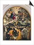 The Burial of Count Orgaz, from a Legend of 1323, 1586-88 Póster por  El Greco