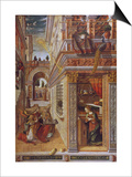 The Annunciation with St. Emidius, 1486 Print by Carlo Crivelli