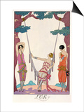 "Summer, from ""Gazette Du Bon Ton,"" 1925 Prints by Georges Barbier"
