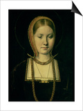 Portrait of a Woman, Possibly Catherine of Aragon (1485-1536), circa 1503/4 Prints by Michiel Sittow