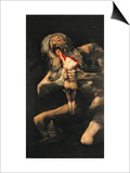 Saturn Devouring One of His Children, 1821-23 Prints by Francisco de Goya