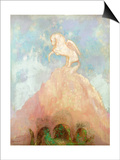 White Pegasus, circa 1908 Prints by Odilon Redon