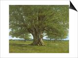 Gustave Courbet - The Oak of Flagey, Called Vercingetorix Plakát