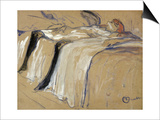 "Woman Lying on Her Back - Lassitude, Study for ""Elles"", 1896 Pósters por Henri de Toulouse-Lautrec"
