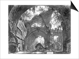 Ruined Gallery of the Villa Adriana at Tivoli Print by Giovanni Battista Piranesi