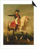 Equestrian Portrait of Napoleon I (1769-1821) 1810 Print by Joseph Chabord