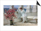 Her Eyes are with Thoughts and They are Far Away Prints by Sir Lawrence Alma-Tadema