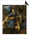 The Virgin of the Rocks (With the Infant St. John Adoring the Infant Christ) circa 1508 Art by  Leonardo da Vinci