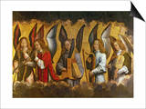 Angels Playing Musical Instruments, Right Hand Panel from a Triptych Posters by Hans Memling