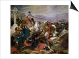 The Battle of Poitiers, 25th October 732, Won by Charles Martel (688-741) 1837 Prints by Charles Auguste Steuben