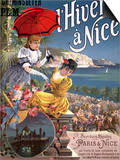 Winter in Nice, Poster Advertising P.L.M Trains Posters by Hugo D' Alesi