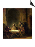 The Supper at Emmaus, 1648 Posters by  Rembrandt van Rijn