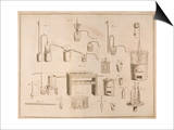 "Scientific Equipment, from ""The Elements of Chemistry"" by Antoine Laurent De Lavoisier (1743-94) Poster"