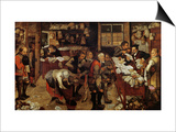 The Village Lawyer, 1621 Arte por Pieter Brueghel the Younger