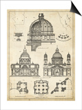 Vintage Architect's Plan II Prints by  Vision Studio