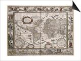 "World Map, from ""Le Theatre Du Monde"" or ""Nouvel Atlas,"" 1645 Prints by Willem Janszoon Blaeu"