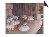 Ballet Rehearsal on the Stage, 1874 Prints by Edgar Degas
