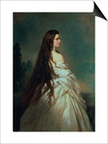 Elizabeth of Bavaria (1837-98), Wife of Emperor Franz Joseph I of Austria (1830-1916) Prints by Franz Xavier Winterhalter
