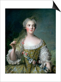 Portrait of Madame Sophie (1734-82), Daughter of Louis XV, at Fontevrault, 1748 Prints by Jean-Marc Nattier