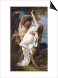 Nymph Abducted by a Faun, 1860 Art by Alexandre Cabanel