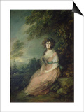 Mrs. Richard Brinsley Sheridan, circa 1785-6 Prints by Thomas Gainsborough