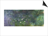 Waterlilies: Morning, 1914-18 (Right Section) Posters by Claude Monet