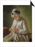The Seamstress Or, Young Woman Working Prints by Francoise Duparc