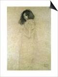 Retrato de una mujer joven, 1896-97 Pósters por Gustav Klimt