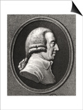 Portrait from a Medallion of Adam Smith (1723-90) Poster by William Holl the Younger