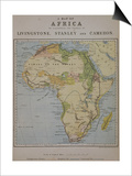 A Map of Africa to Illustrate the Travels of David Livingstone Art